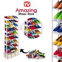 Органайзер для взуття на 30 пар Amazing shoe rack, полиця для взуття на 30 пар, фото 4