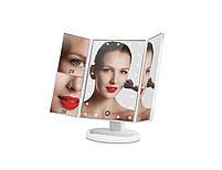 Настільне дзеркало для макіяжу з підсвічуванням розкладне , сенсорний екран, 22 LED лампи, Лід дзеркало для, фото 6