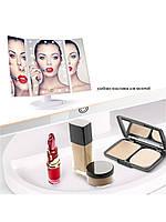 Настільне дзеркало для макіяжу з підсвічуванням розкладне , сенсорний екран, 22 LED лампи, Лід дзеркало для, фото 8