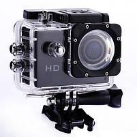 Відеокамера Екшн камера Action Camera D600 з боксом і кріпленнями, портативна камера, фото 2