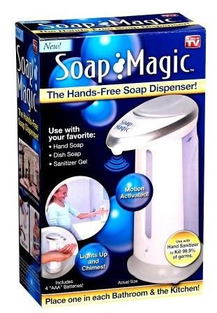 Мильниця сенсорна Soap Magic, сенсорний дозатор для мила, мильниця дозатор, сенсорний дозатор рідкого мила