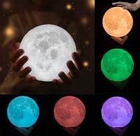 """3D Светильник """"Луна"""" 3D MOON LAMP 15см 5 Режимов , ночник в виде луны, фото 2"""