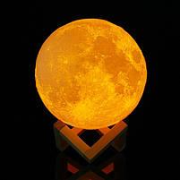 """3D Светильник """"Луна"""" 3D MOON LAMP 15см 5 Режимов , ночник в виде луны, фото 4"""