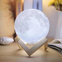 """3D Светильник """"Луна"""" 3D MOON LAMP 15см 5 Режимов , ночник в виде луны, фото 5"""