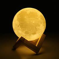 """3D Светильник """"Луна"""" 3D MOON LAMP 15см 5 Режимов , ночник в виде луны, фото 6"""