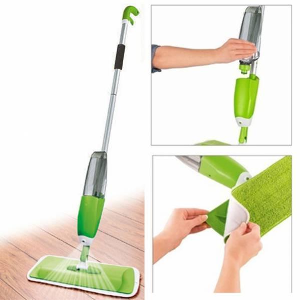 Розумна швабра 3 в 1 з розпилювачем Healthy Spray Mop Deluxe, зелений колір