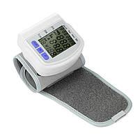 Тонометр автоматический на запястье CK-102S + пластиковый чехол, прибор для измерения давления, цвет белый, фото 3
