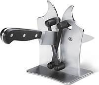 Точилка для ножів Bavarian Edge Knife Sharpener настільна, ножеточка, колір сріблястий, фото 5