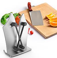 Точилка для ножів Bavarian Edge Knife Sharpener настільна, ножеточка, колір сріблястий, фото 6