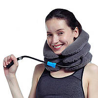 Воротник лечебный ортопедический Tractors For Cervical Spine (массажер для шеи), надувной воротник для шеи, фото 2