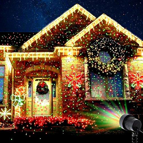 Мощный Лазерный проектор STAR SHOWER Laser Light, праздничное освещение, гирлянда на дом 3mW