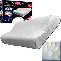 Ортопедична подушка Comfort Memory Pillow з наволочкою, подушка з пам'яттю, фото 5
