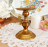 Старый латунный подсвечник под пеньковую свечу, латунь, Германия, 12 см, фото 2