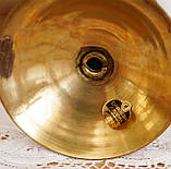 Старый латунный подсвечник под пеньковую свечу, латунь, Германия, 12 см, фото 6