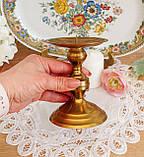 Старый латунный подсвечник под пеньковую свечу, латунь, Германия, 12 см, фото 4