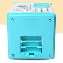 Електронна Скарбничка сейф з відбитком пальця і кодовим замком «Електронний сейф» + купюроприймач   Pink, фото 7
