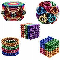 Конструктор анти-стресс Neo Cube 5мм. 216 шариков, разноцветный, неодимовый магнит, магнитный конструктор, фото 2
