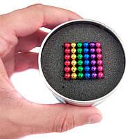 Конструктор анти-стресс Neo Cube 5мм. 216 шариков, разноцветный, неодимовый магнит, магнитный конструктор, фото 3
