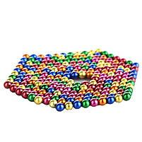 Конструктор анти-стресс Neo Cube 5мм. 216 шариков, разноцветный, неодимовый магнит, магнитный конструктор, фото 4