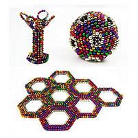 Конструктор анти-стресс Neo Cube 5мм. 216 шариков, разноцветный, неодимовый магнит, магнитный конструктор, фото 5