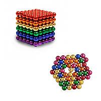 Конструктор анти-стресс Neo Cube 5мм. 216 шариков, разноцветный, неодимовый магнит, магнитный конструктор, фото 6