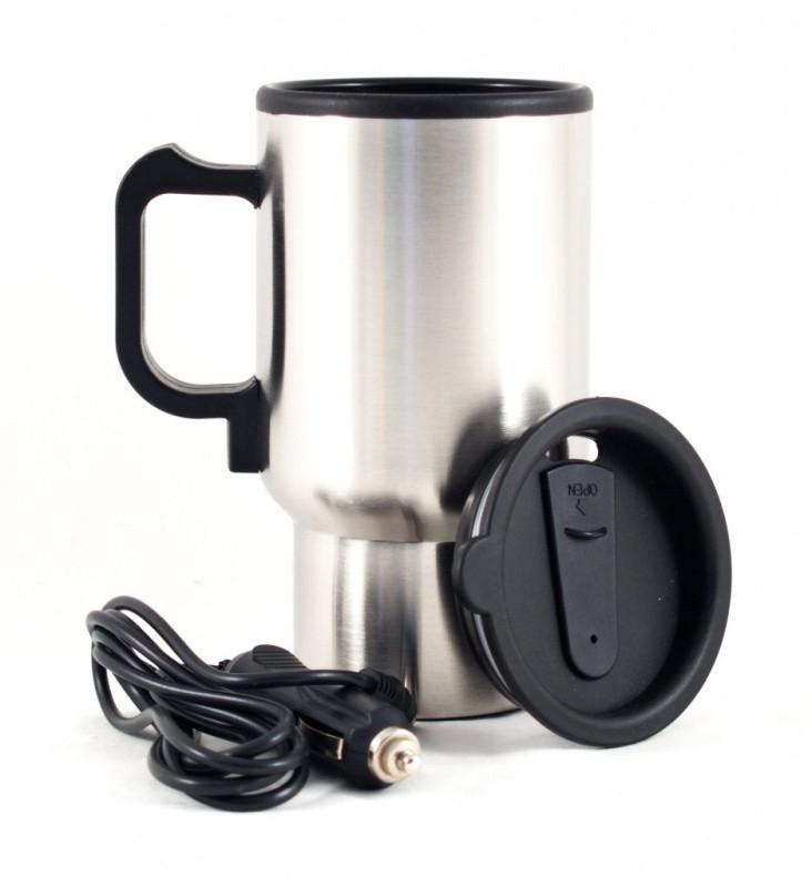 Кружка-термос автомобильная с подогревом 12V CUP от прикуривателя 450мл, термокружка, чашка термос