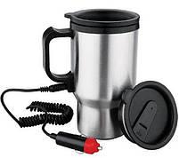 Кружка-термос автомобільна з підігрівом 12V CUP від прикурювача 450мл, термокружка, чашка термос, фото 2
