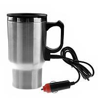 Кружка-термос автомобильная с подогревом 12V CUP от прикуривателя 450мл, термокружка, чашка термос, фото 3
