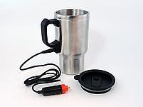 Кружка-термос автомобільна з підігрівом 12V CUP від прикурювача 450мл, термокружка, чашка термос, фото 5