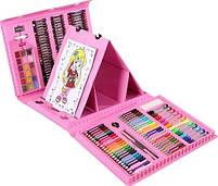 Детский набор для рисования 208 предметов в удобном кейсе с ручкой + Мольберт, фото 4