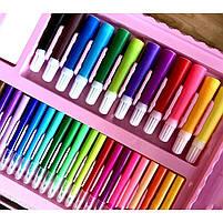 Детский набор для рисования 208 предметов в удобном кейсе с ручкой + Мольберт, фото 6