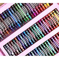 Детский набор для рисования 208 предметов в удобном кейсе с ручкой + Мольберт, фото 7