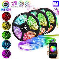 Светодиодная LED лента с пультом 5050 RGB Music