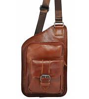 Мужская кожаная сумка органайзер коричневая, фото 1
