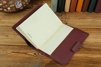 """Обложка для блокнота А5 """"Модель № 1"""", кожа Grand, цвет Бордо, фото 3"""