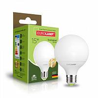 Светодиодная EUROLAMP LED Лампа ЕКО G95 15W E27 3000K