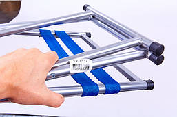 Стілець складаний зі спинкою 41х29х73см TY-0534, Синій, фото 2