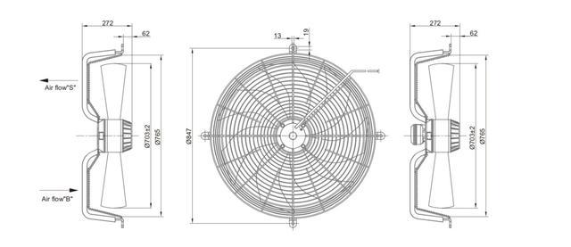 Осевой промышленный вентилятор 710 B/S