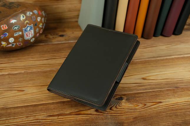 """Обложка для блокнота А5 """"Модель № 1"""", кожа Grand, цвет Шоколад, фото 2"""
