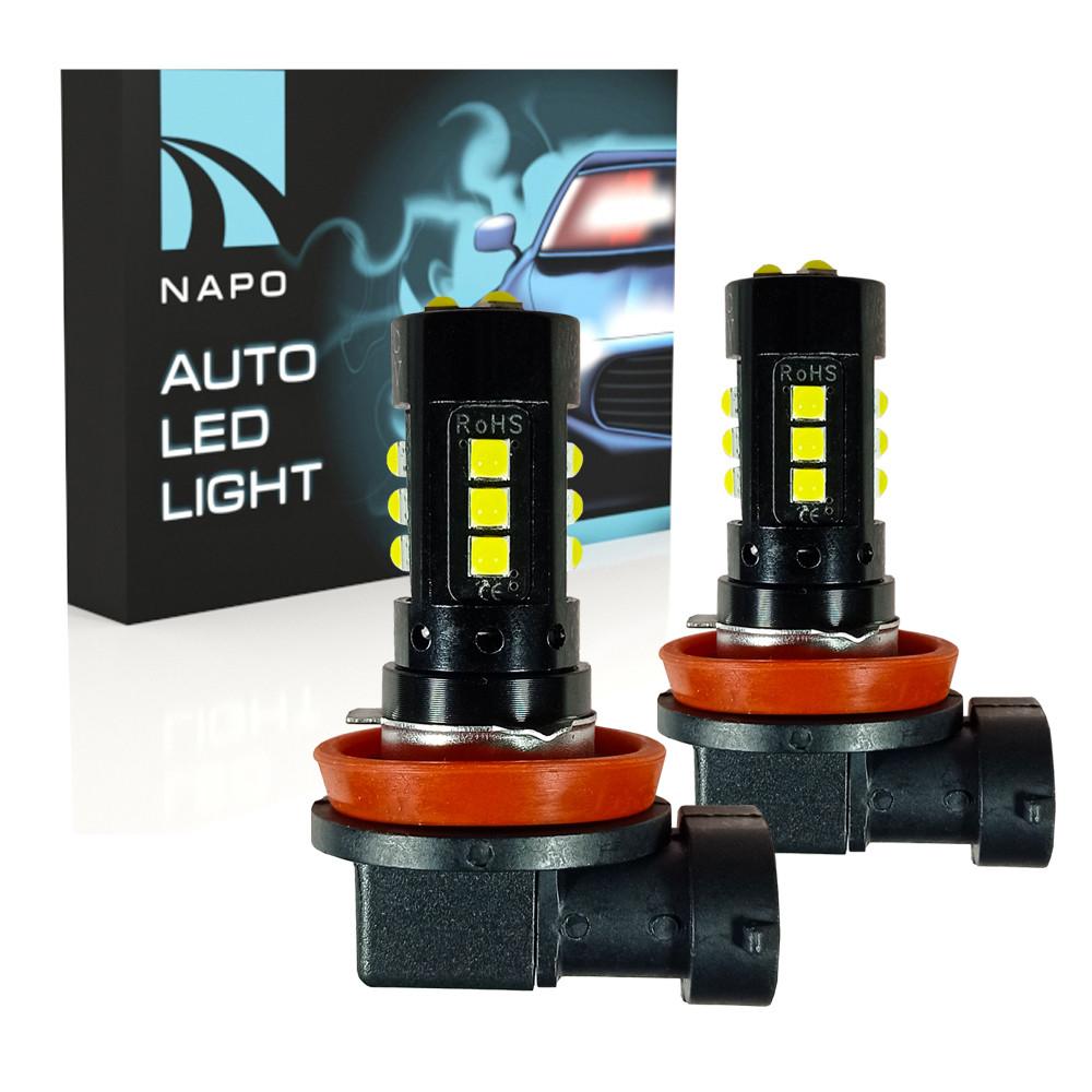 Комплект світлодіодних ламп для ПТФ NAPO LED Model FX H11 9-48V 3600 Lum колір світіння білий 2 шт