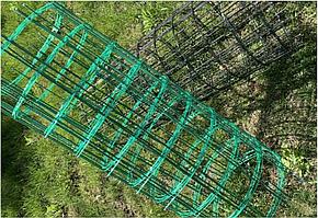 Сетка для растений Композитная  Ячейка10х10см  Толщина прутков 3х3мм