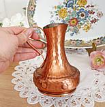 Колекційний мідний глечик ручної роботи, мідь, Німеччина, 0,5 літра, фото 5