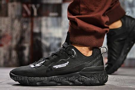 Кроссовки мужские 15391, Nike React, черные, [ 43 44 45 ] р. 43-28,0см., фото 2