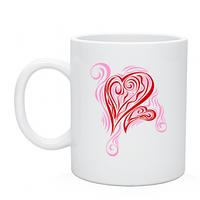 Чашка с нанесением принта для любимого человека с Сердцем