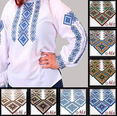 """Вышиванка женская """"Александра №4"""" ткань поплин белый с орнаментом"""