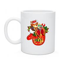 Купить недорого кружки чашки с нанесение,  рисунок С Новым годом