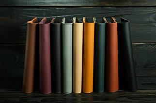 """Обкладинка для блокнот А5, """"Модель № 14"""" шкіра Grand, колір Бурштин, фото 3"""