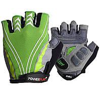 Велоперчатки PowerPlay 5007 A Зеленые L, фото 1