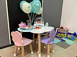 """Дитячий стіл хмара і 3 стільці (стільці: """"хмарка"""",""""зайчик""""нова модель """"метелик""""), фото 2"""