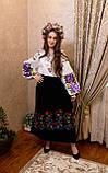 Вишиванка пишна фіолетова роза- масивна гладь🌸, фото 7